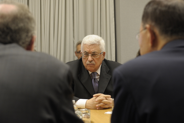 File photo of Palestinian President Mahmoud Abbas meeting with UN Secretary General Ban Ki-moon (UN Photo/Eskinder Debebe)