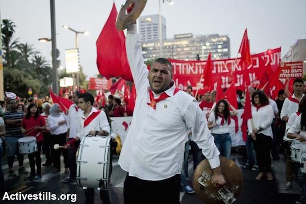 May Day demonstration, May 1, 2013, Tel Aviv. (Photo by Shiraz Grinbaum/Activestills.org)
