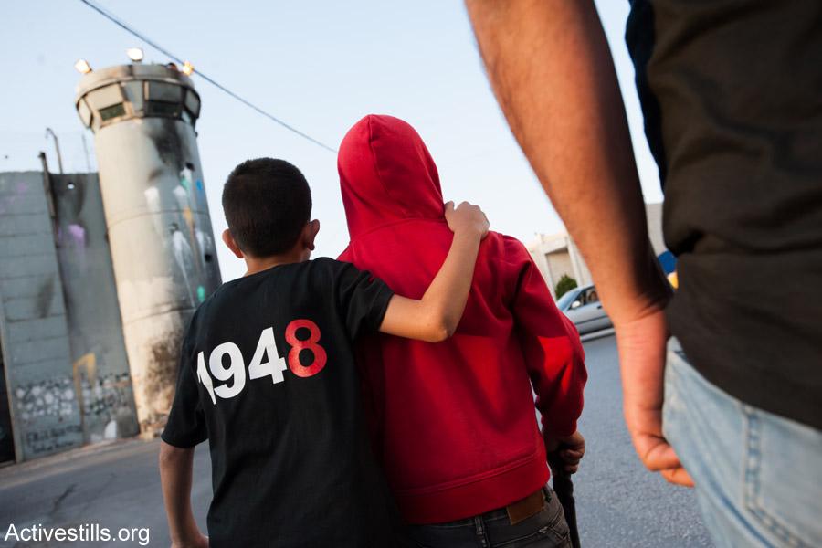 Palestinians in Bethlehem commemorate the Nakba, May 14, 2013. (Activestills.org)