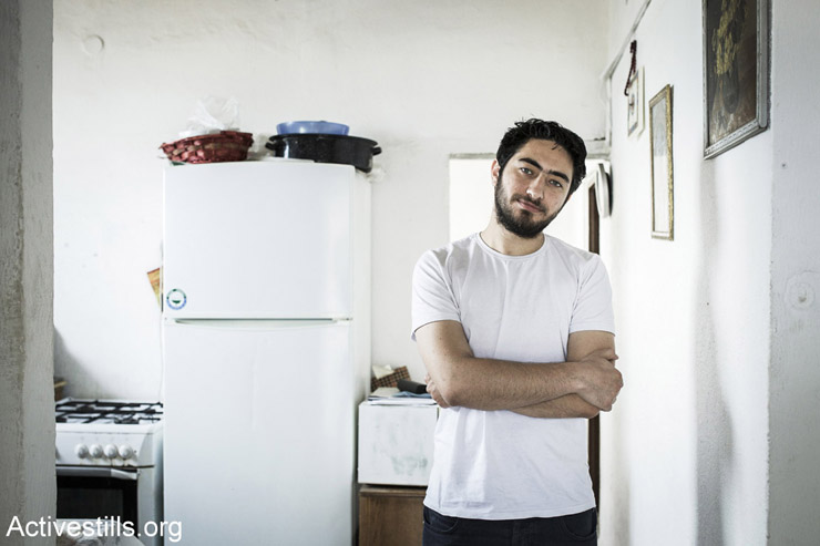 Majd Kayyal at his home in Haifa. (Photo by Shiraz Grinbaum/Activestills.org)