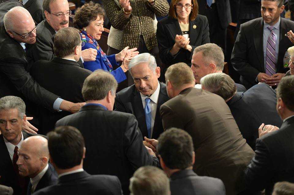 Prime Minister Benjamin Netanyahu speaks to members of Congress at a joint Session in Washington DC, US. (photo: Amos Ben Gershom/GPO)