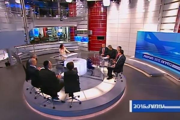 Screenshot of Channel 2 debate.