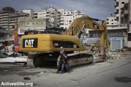 A home demolition in East Jerusalem. (photo: Oren Ziv/Activestills.org)