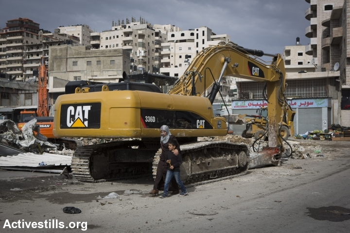 A home demolition in East Jerusalem. (photo: Oren Ziv/Activestills.org)