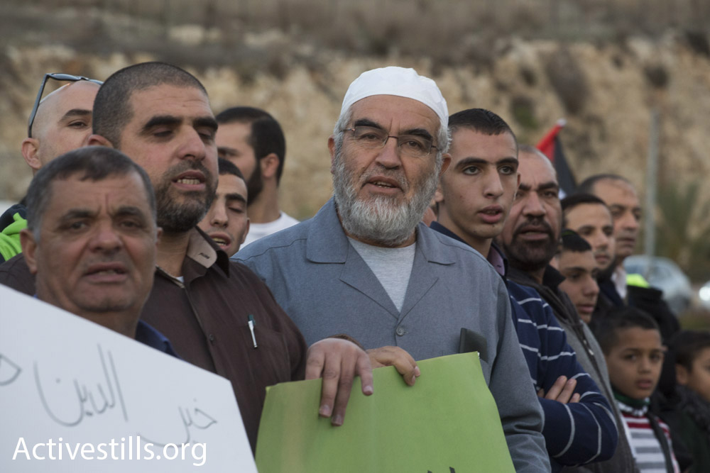 Sheikh Raed Salah, leader of the northern branch of the Islamic Movement and former mayor of Umm al-Fahm. (photo: Oren Ziv/Activestills.org)
