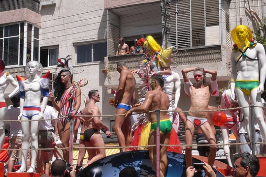The Tel Aviv Pride Parade. (Photo by Nina Jean / CC 2.0)