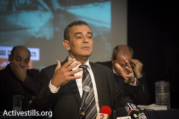 Balad chairman Jamal Zahalka. (Photo by Oren Ziv/Activestills.org)