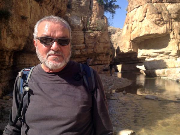 Hiking guide Suhail Hijazi, Wadi Qelt, Jordan Valley, West Bank. (Photo: Angela Gruber)