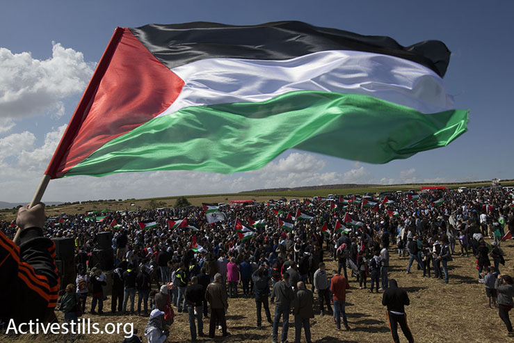 Thousands of people take part in the March of Return, Hadatha, Lower Galilee, April 23, 2015. (Akron Drawshi/Activestills.org)