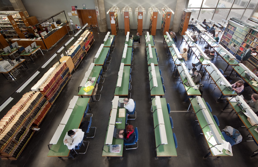 The reading room in Israel's National Library in Jerusalem. (photo: Assaf Pinchuk/CC BY 3.0)