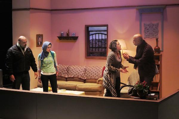 Haythem Noor, Dahlia Azama, Maria Silverman and Alok Tewari (Left to right) in 'Martyrs' Street'. (Photo by Jonathan Slaff)