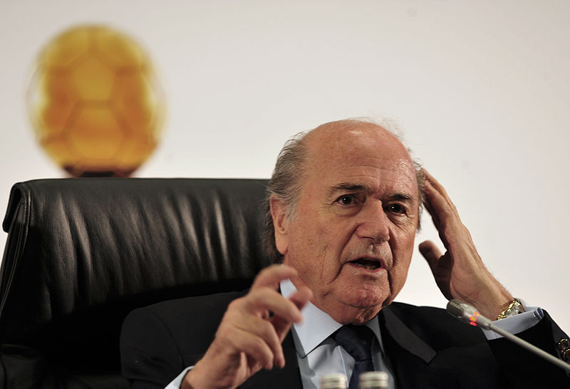FIFA Chairman Sepp Blatter. Palestinian Football Association head Jibril Rajoub has spent the last months lobbying to expel Israel from soccer's international governing body. (photo: Marcello Casal Jr./ABr/CC BY 3.0 BR)