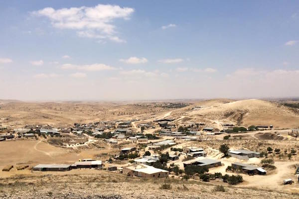 The Arab Bedouin village of Atir in the Naqab/Negev. (Photo by Amjad Iraqi)