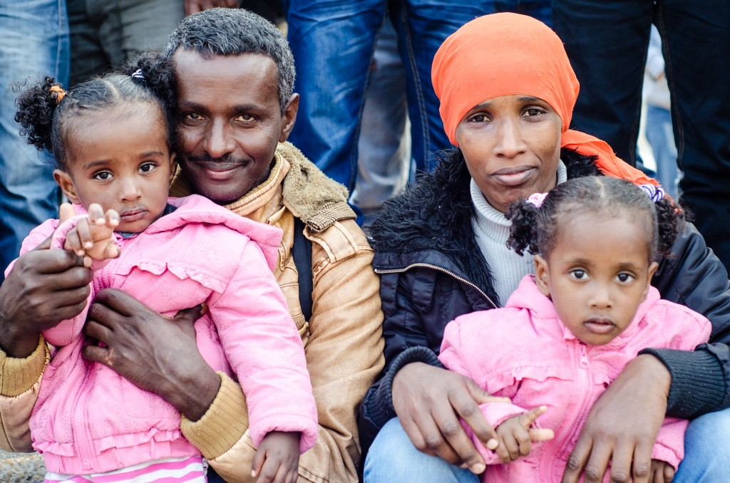 An Eritrean family in Israel. (photo: Steven Wilson)