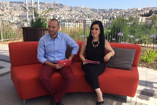 The 'Palestine 48' morning show, broadcast from Nazareth. (From 'Palestine 48' Facebook page)