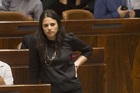Justice Minister Ayelet Shaked. (Photo by Activestills.org)