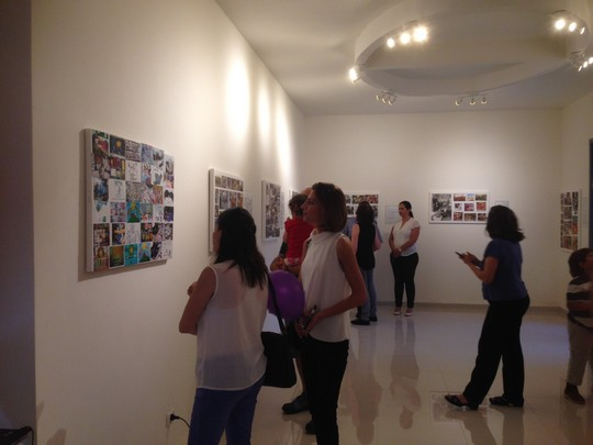 Photography exhibit to mark 30 years since the founding of bi-national school. (photo: Samah Salaime)