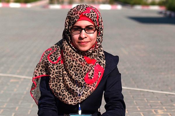 Shrouq Aila, 20, Jabaliya refugee camp, Gaza Strip. (Shrouq Aila)