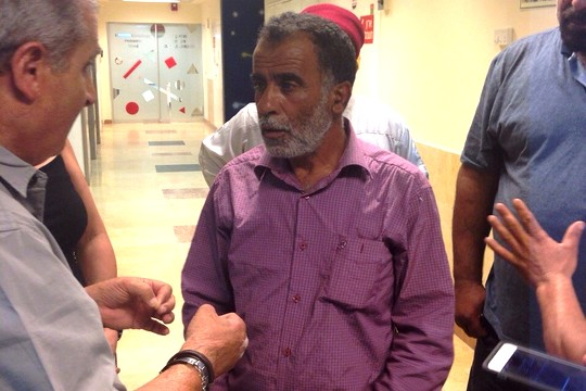 Hussein Hasan Dawabshe, father of Reham, who is in critical condition at the Tel Hashomer Hospital. July 31, 2015. (photo: Samah Salaimah)