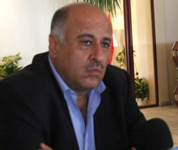 Jibril Rajoub at the Beach Hotel in Gaza, spring 2005 (Lisa Goldman)
