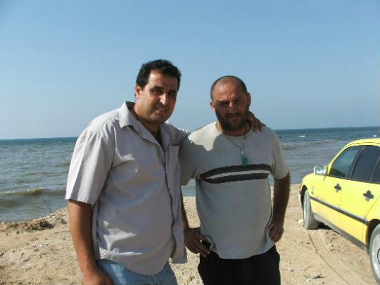 Two Palestinian men from Gaza who didn't want me to use their names (Lisa Goldman)
