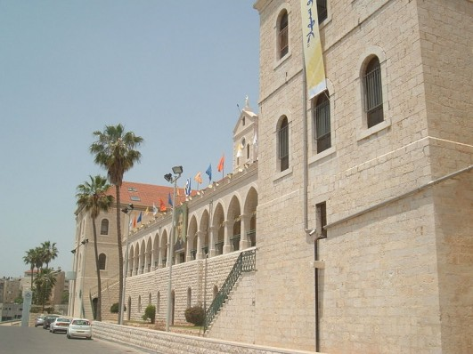 Don Bosco school inside the Salesian church compound in Nazareth (WikiCommons)