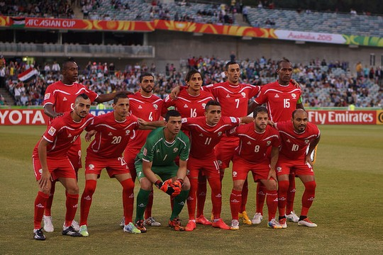 The Palestinian national team. (photo: Nasya Bahfen CC BY-ND 2.0)
