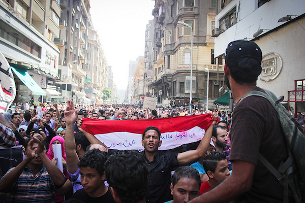 Egyptian protesters march from Tahrir Square to the country's High Court on June 2, 2012. (Al Hussainy Mohamed / CC BY-NC 2.0)