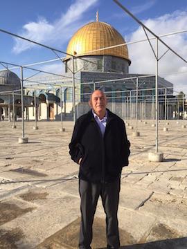 MK Basel Ghattas at Al-Aqsa, October 28, 2015. (Joint List)