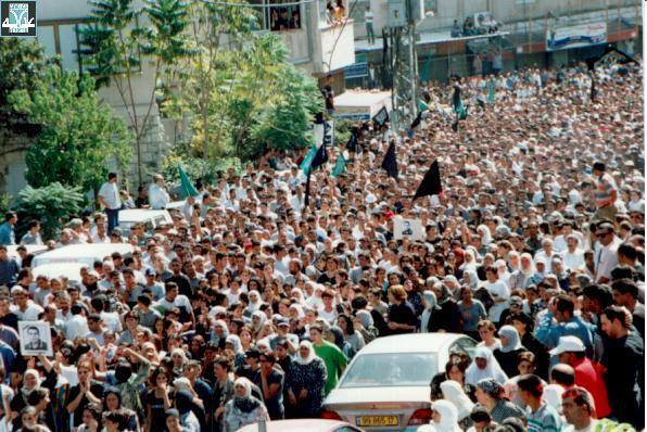 Demonstrations by Palestinian citizens of Israel in early October 2000. Photo courtesy of Adalah.