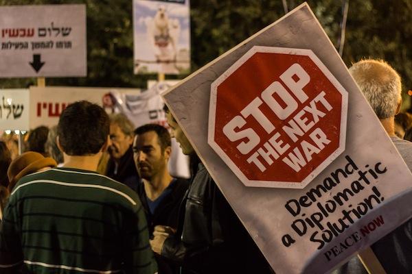 Peace Now at the Rabin memorial rally in Rabin Square, Tel Aviv, November 1, 2014. (photo: Oren Rozen/CC BY-SA 3.0)