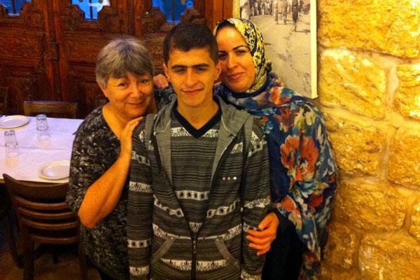 Deb (L), Mohammad, and Maha.