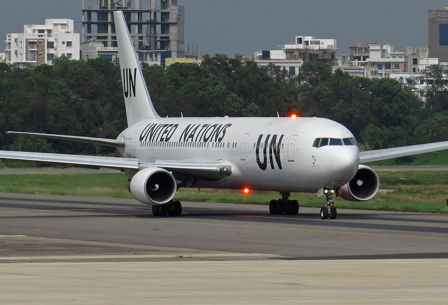 UN Boeing 767, Bangladesh. (photo:Shadman al Samee/www.jetphotos.net)