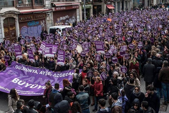The HDP holds a women's march in honor of International Women's Day, March 8, 2015. (photo courtesy HDP)