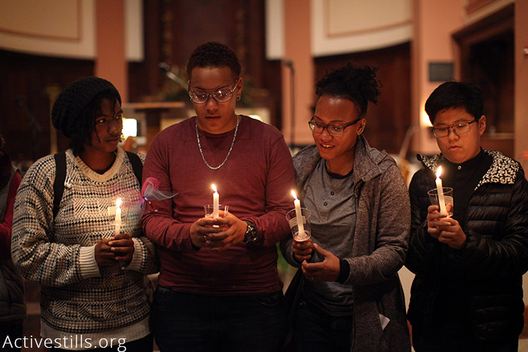 The Boston Transgender Day of Remembrance event, held on Sunday, November 22, 2015 at St. Paul's Cathedral in downtown Boston, MA. The annual Transgender Day of Remembrance (TDOR) memorializes individuals who have died throughout the world in the previous year in anti-transgender related events. (Activestills.org)