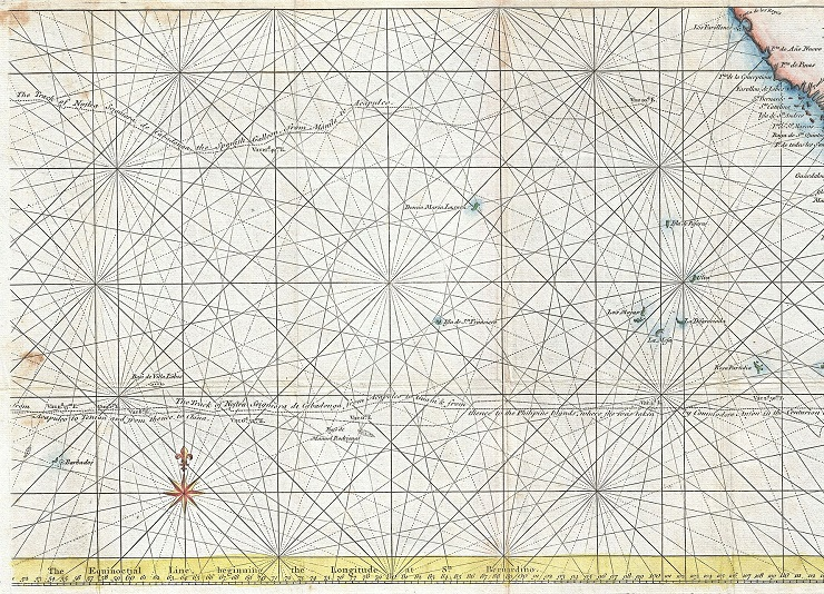 1748_Anson_Map_of_Baja_California_and_the_Pacific_w^^x2F,_Trade_Routes_from_Acapulco_to_Manila_-_Geographicus_-_Pacific-anson-1748