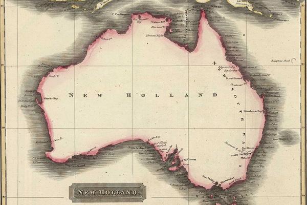 Australia is vast. Map by Aaron Arrowsmith, dated 1817.