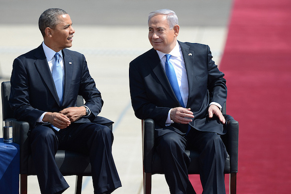President Obama and Prime Minister Netanyahu at Ben-Gurion Airport in Israel, March 20, 2013. (Kobi Gideon / GPO)