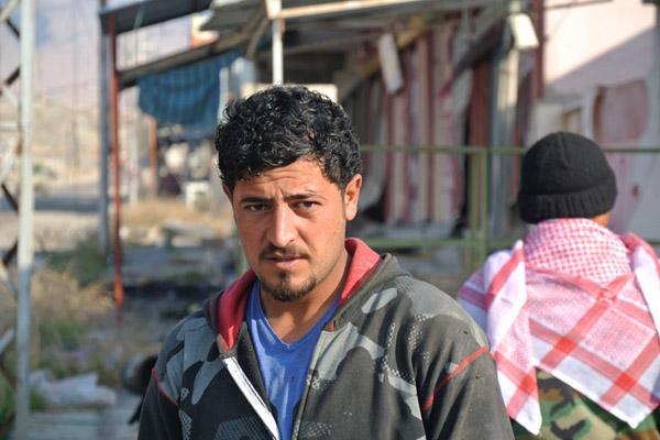 Niswan Zalud, 22, a Yazidi man whose family fled ISIS, Shingal, Iraqi Kurdistan. (Seth J. Frantzman)