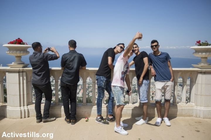 Illustrative photo of Palestinian youths in Haifa, July 19, 2015. (photo: Faiz Abu Rmeleh/Activestills.org)