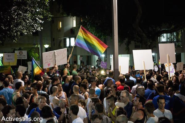 Protest against homophobia, Tel Aviv, June 23, 2012. (Photo: Oren Ziv/Activestills.org)