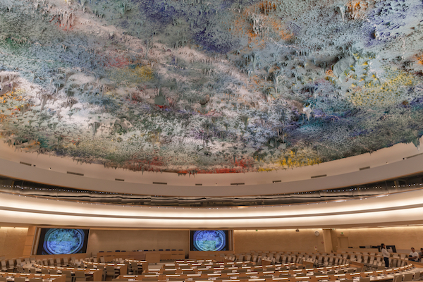 The United Nations Human Rights Council chamber in Geneva (Stock photo by Vogel / Shutterstock.com)