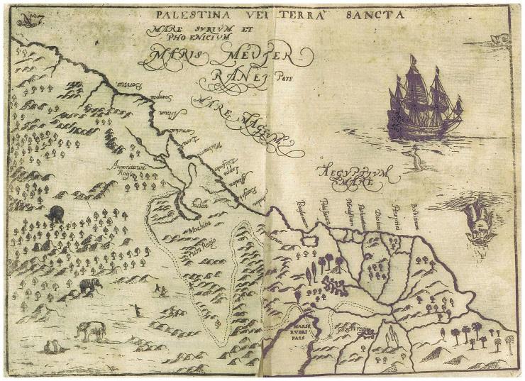 Palestina Vei Terra Sancta, 1681