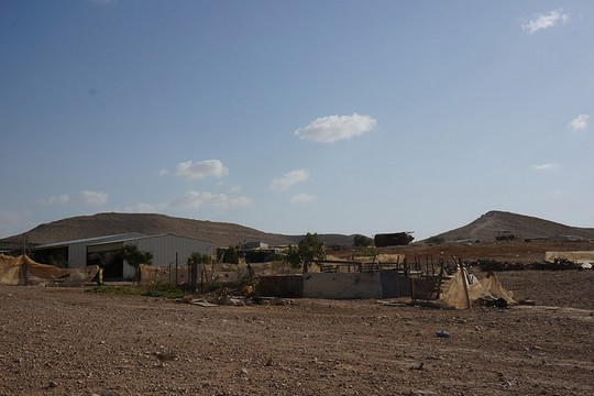 The unrecognized village of Abda, Ramat Negev Regional Council, southern Israel. (photo: Negev Coexistence Forum for Civil Equality)