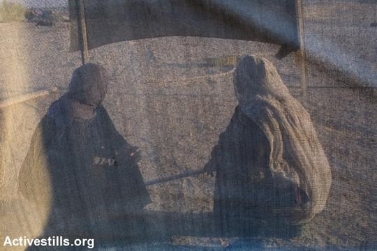 Two Bedouin women in southern Israel. (Illustrative photo by Keren Manor/Activestills.org)