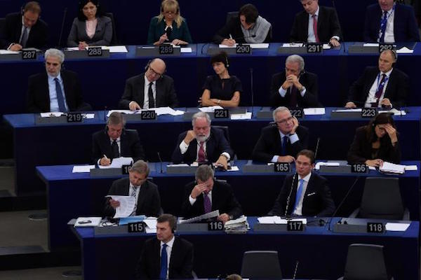 Members of the European Parliament during a vote at the European Parliament in Strasbourg. (EU Photo)