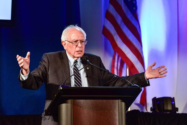 File photo of Democratic presidential candidate, Senator Bernie Sanders (Crush Rush / Shutterstock.com)