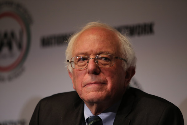 File photo of Democratic presidential candidate, Senator Bernie Sanders (A Katz / Shutterstock.com)