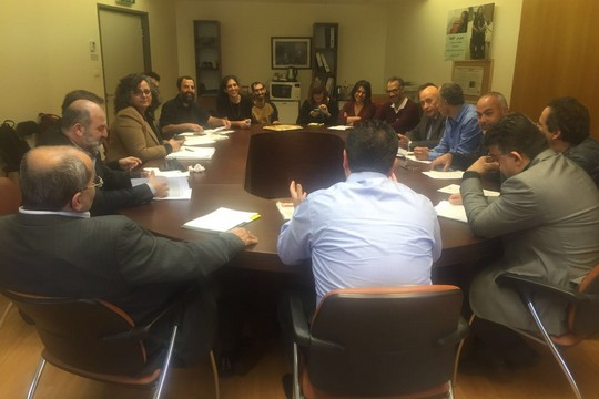 Mizrahi activists meet with members of Knesset from the Joint List. (photo courtesy of the Joint List)