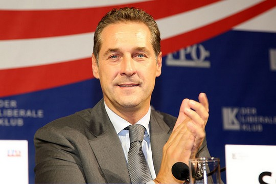 Heinz-Christian Strache, Chairman of the Freedom Party of Austria. (photo: (Franz Johann Morgenbesser CC BY-SA 2.0)